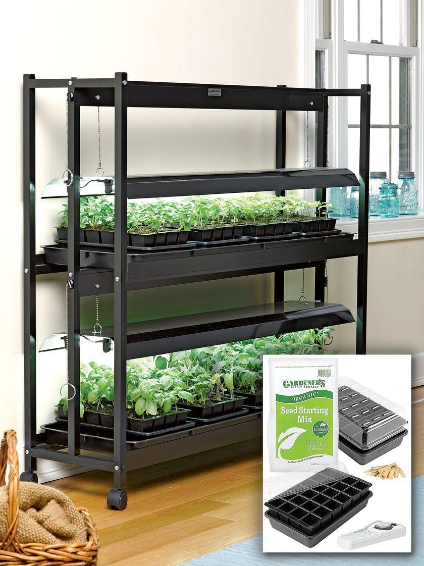 T5 Grow Lights 2 Tier Garden Starter Grow Light Kit Growing
