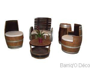 Ensemble salon barrique | cave à vin | Barrique, Chene massif et ...