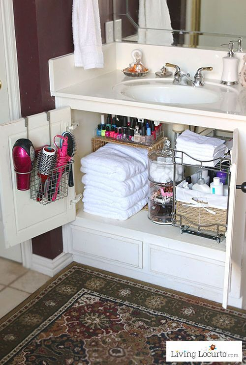 Clever Ideas To Keep Your Bathroom Clean All The Time Bathroom Cabinet Makeover Home Organization Bathroom Organization
