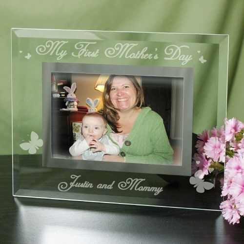 Engraved My First Mother\'s Day Glass Frame   Glass photo frames ...