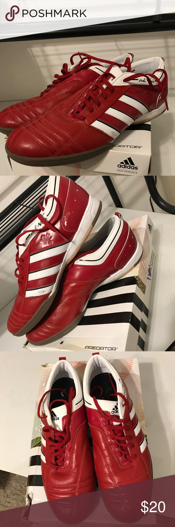 Di Nuovo Con Scatola Adidas Indoor Scarpe Adidas Nwt Indoor Soccer