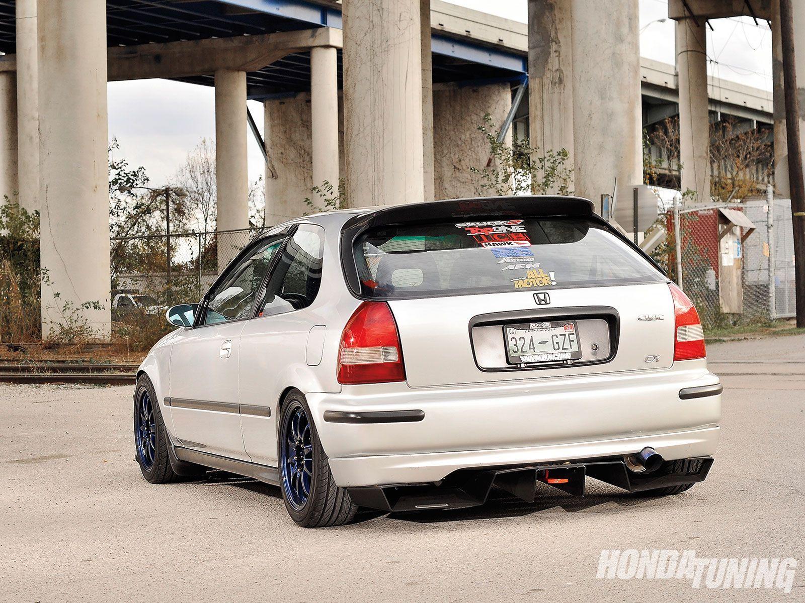 1998 honda civic cx top one rear diffuser 07