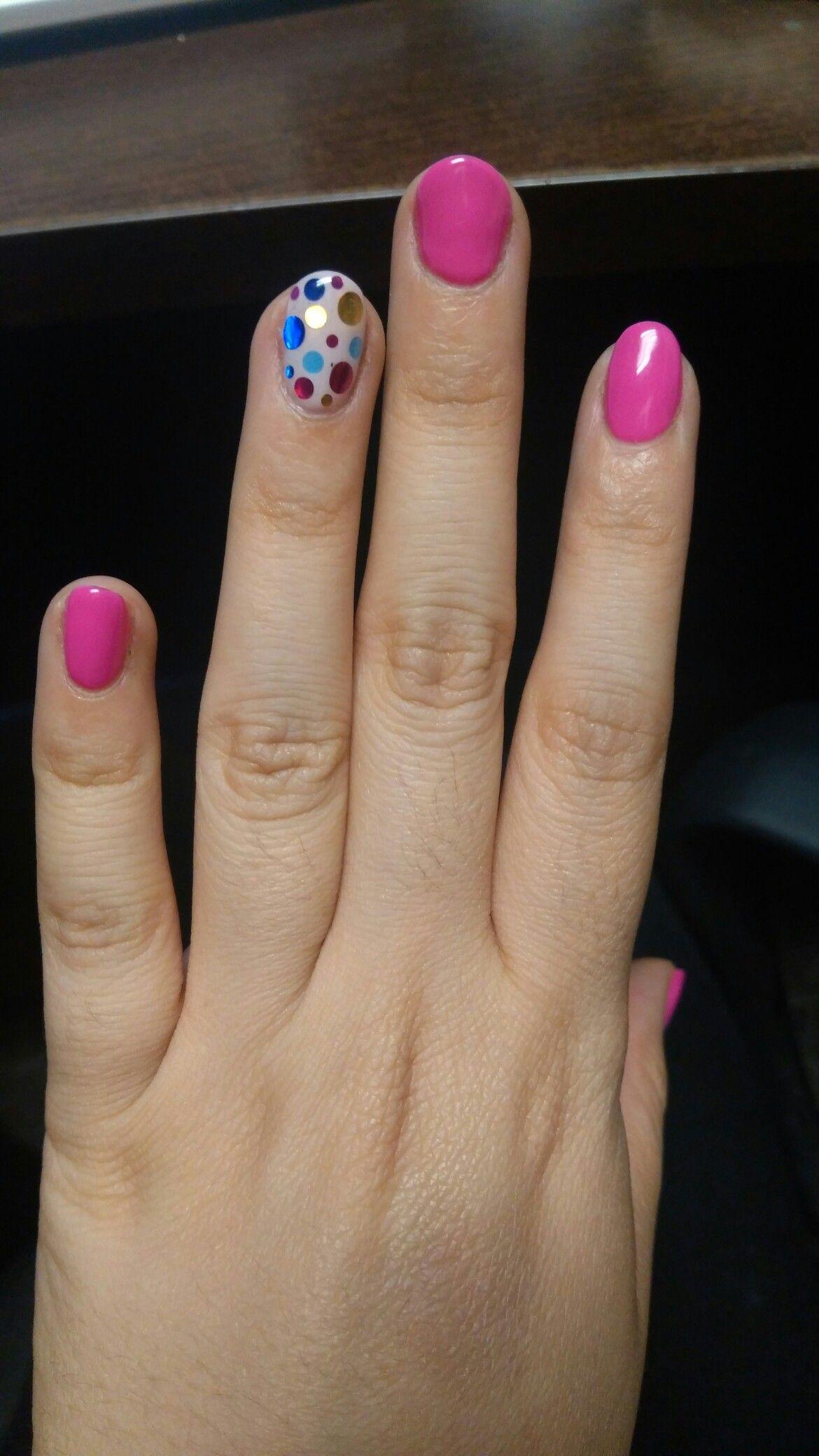 U as confeti Color rosa mexicano y decoraci n de confeti nails