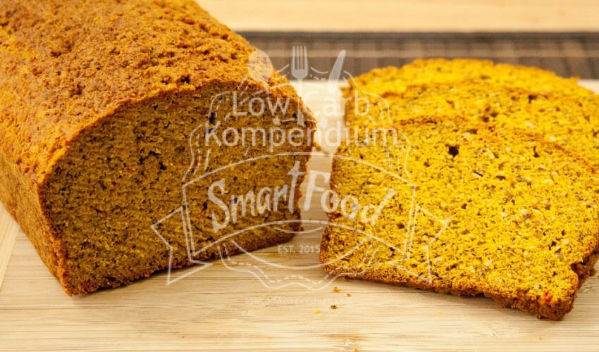Photo of Low carb pumpkin bread – yellow & exceptionally tasty