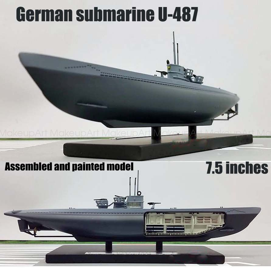WWII German submarine U-487 Type XIV 1943 U-boat 1/350 ...