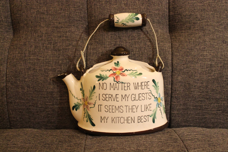 Vintage Tea Pot Wall Hanging Planter No Matter Where I