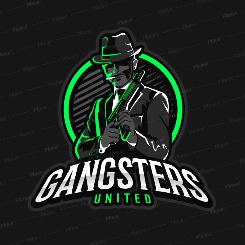 Placeit Gaming Logo Maker Featuring a Suited Mafia