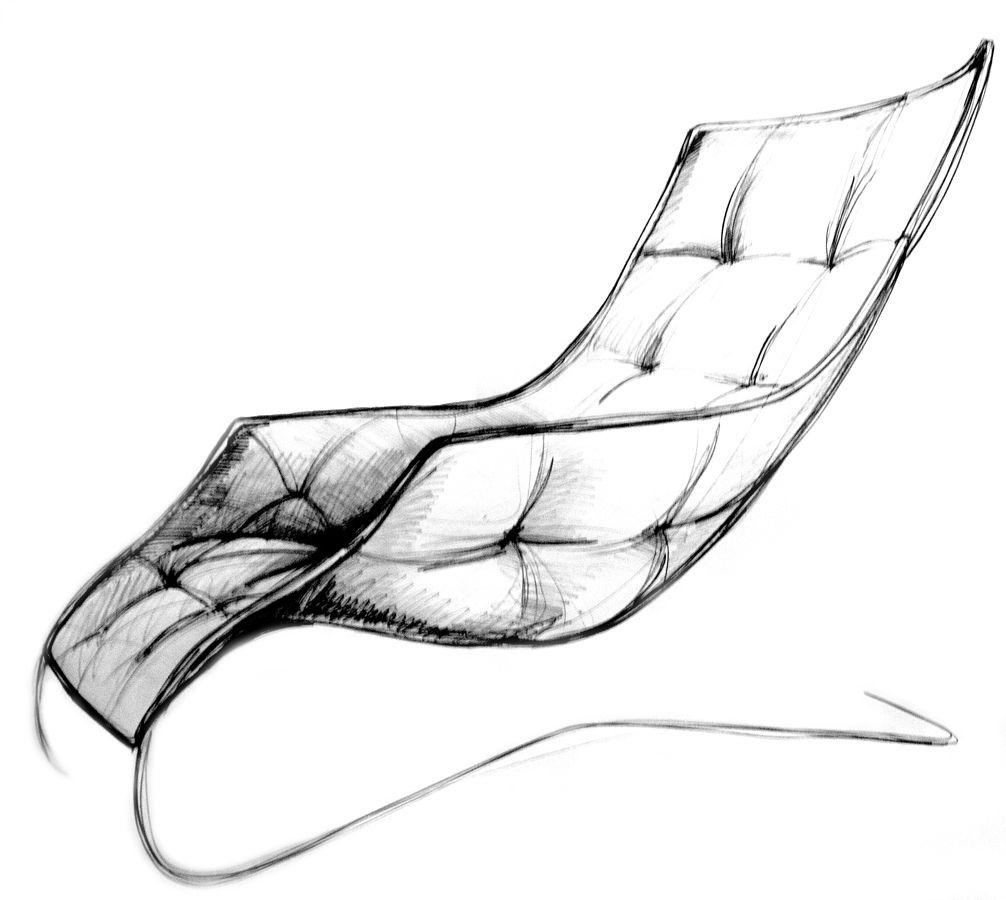 LOUNGE CHAIR #sketch Of The #loungechair Designed For #Zanotta And Maserati  / #