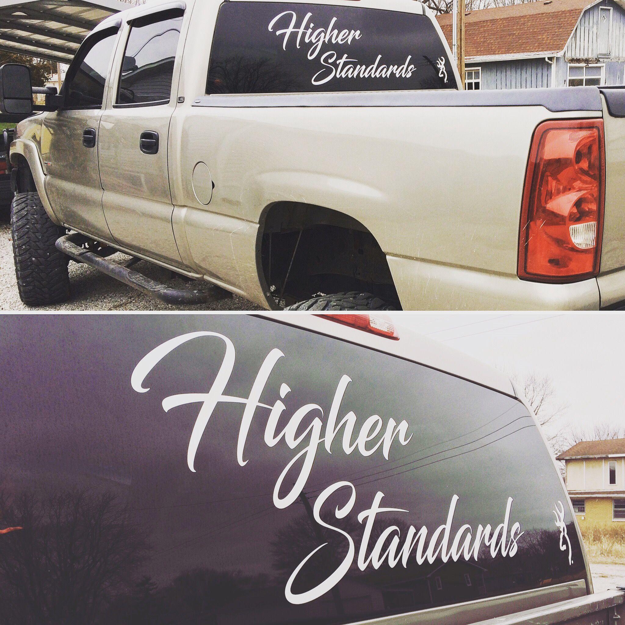 Custom Window Banners By Chrislow Vinyl Diesel Truck Decals - Custom car window decals metal