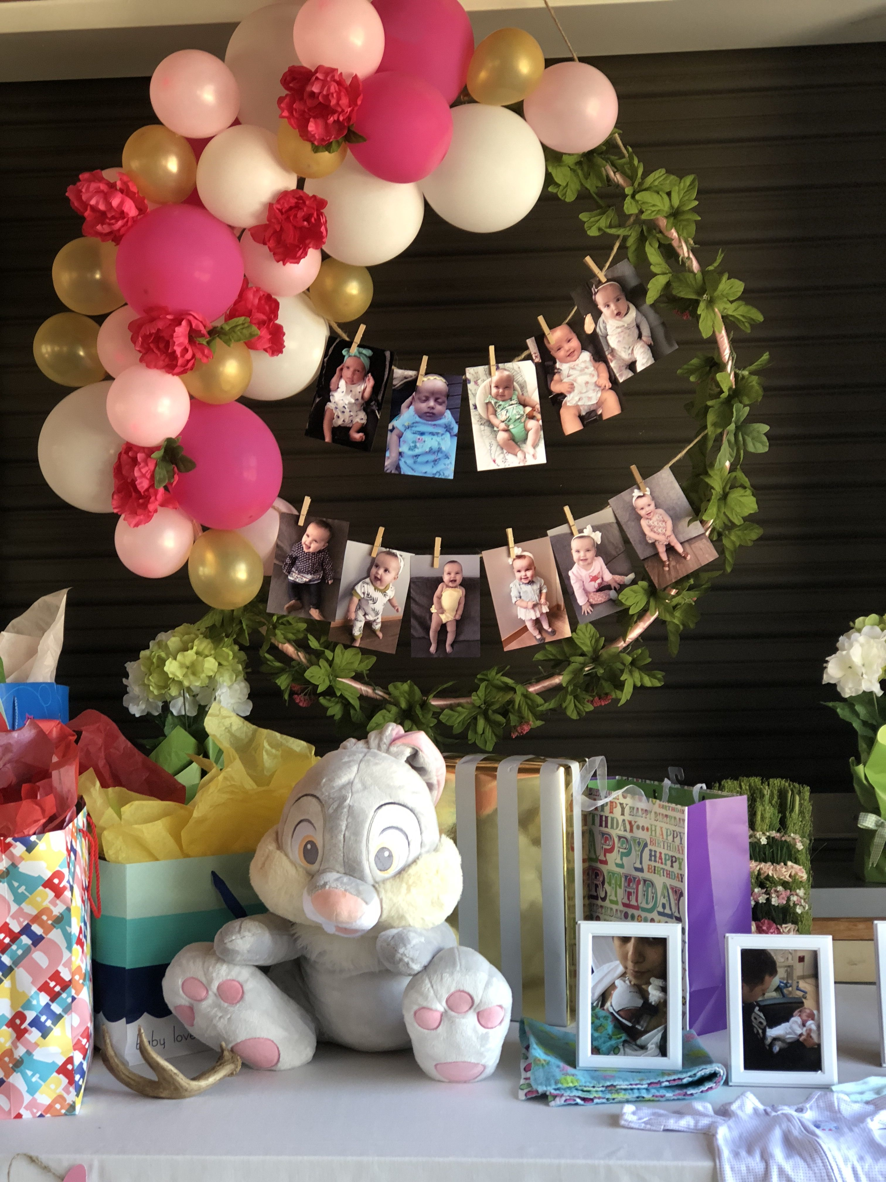 Baby Shower Hula Hoop Wreath