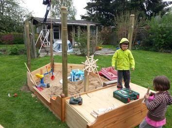 Kinderspielplatz Kinderspielplatz Sandkasten Selber Bauen Spielplatz