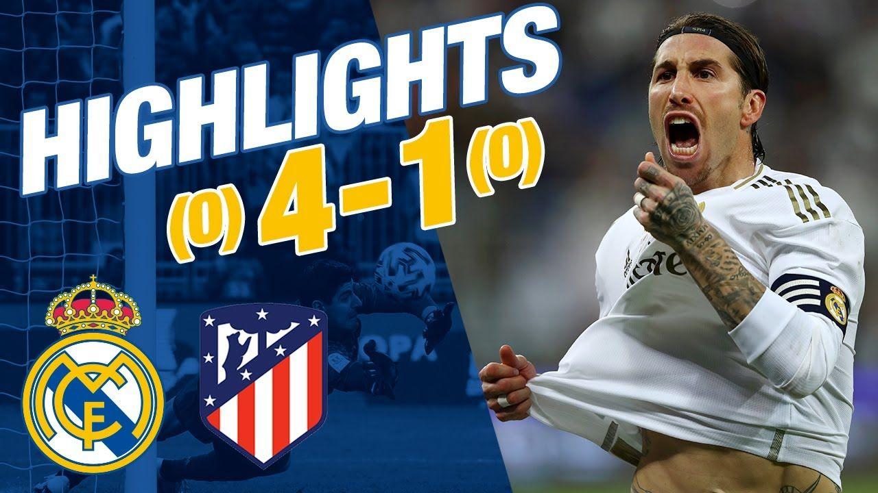 GOLES Y RESUMEN Real Madrid 00 Atlético (41 penaltis