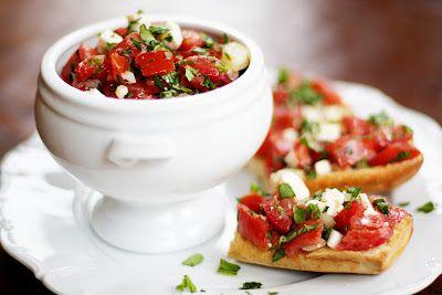 Tomato Feta Salad or Bruschetta