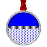 silver Metal Blue White Metal Ornament  silver Metal Blue White Metal Ornament  $20.95  by Steadily  . More Designs http://bit.ly/2fwNuVk #zazzle