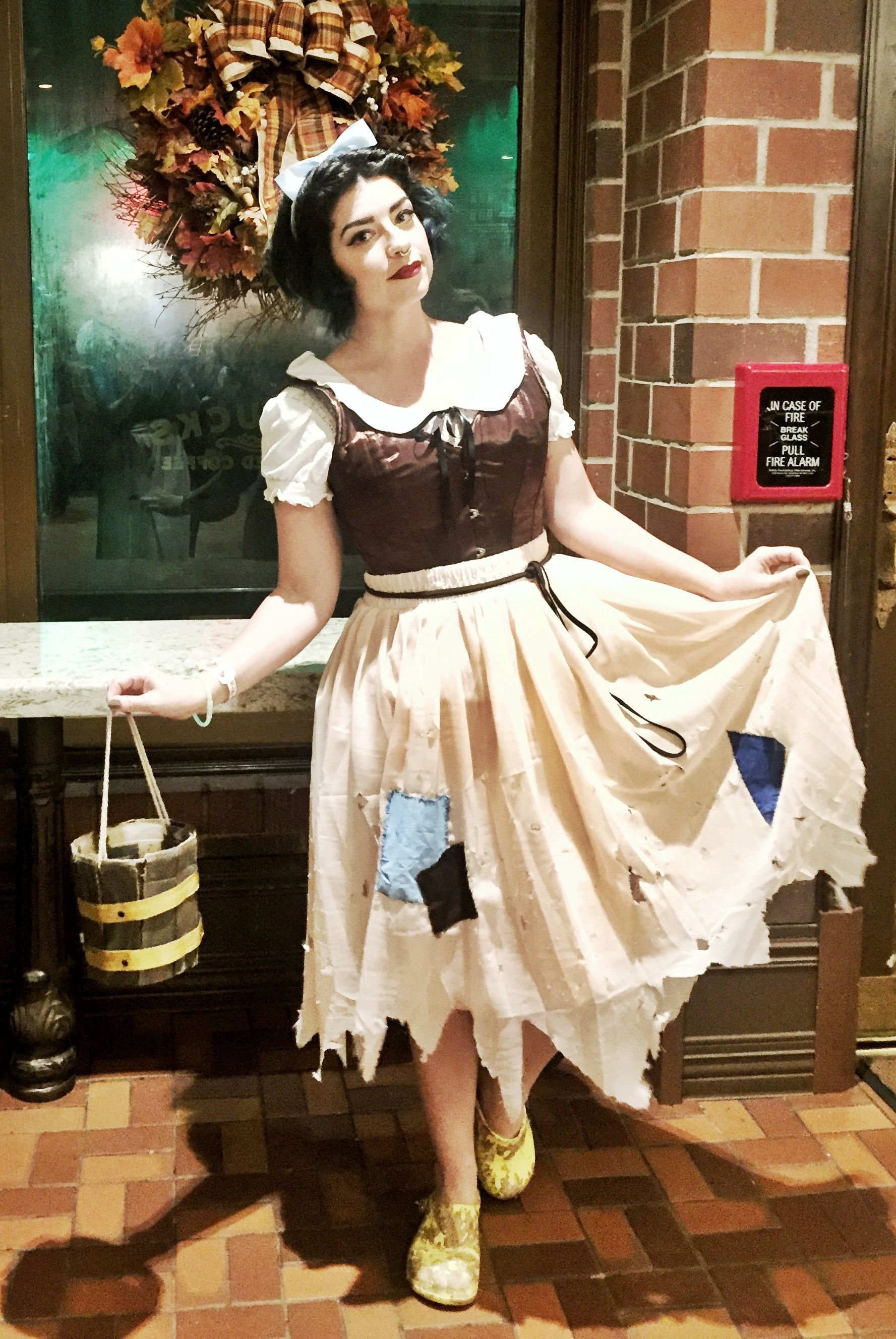 Forced to wear dresses at disneyland stories - Completed snow white rags costume