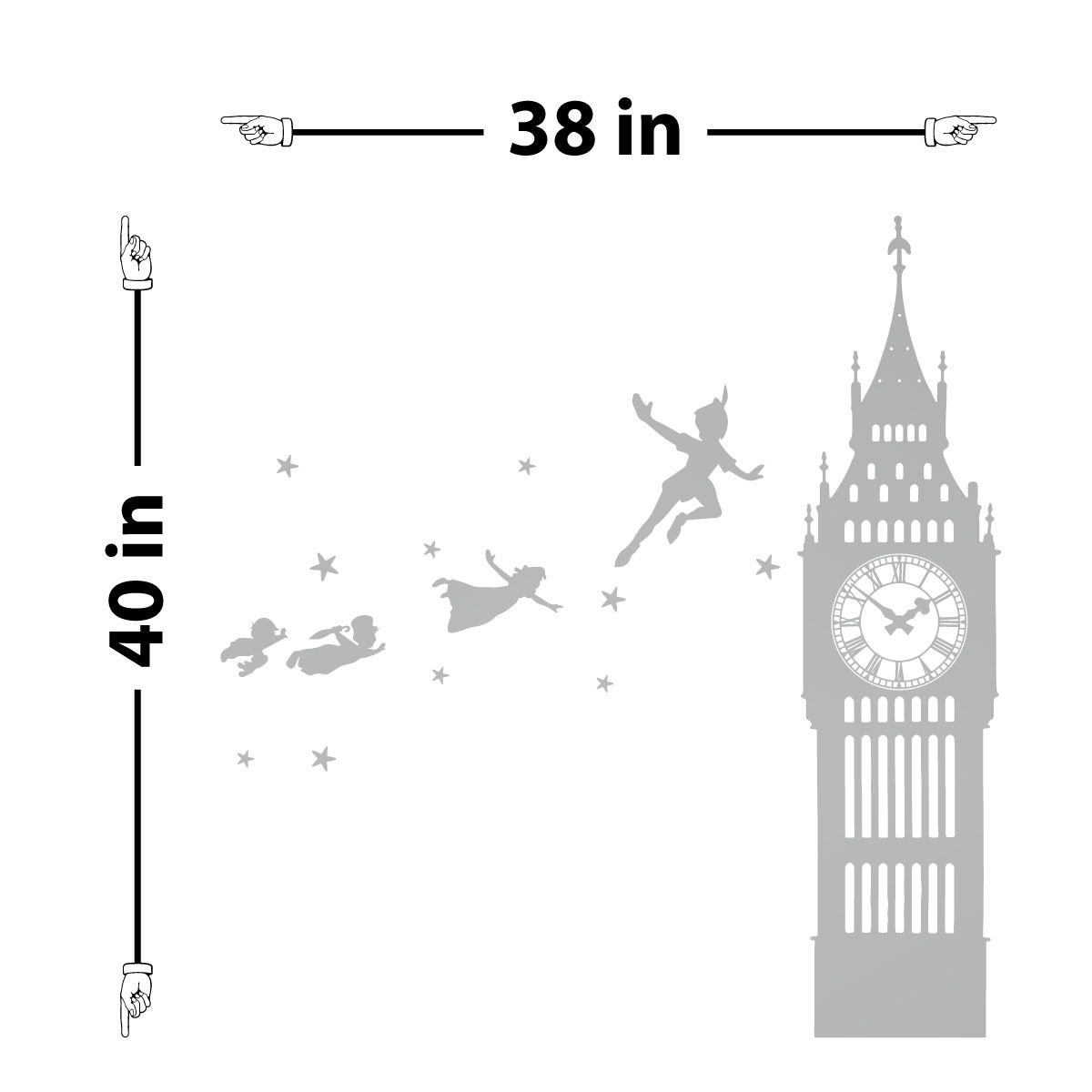 Peter Pan Big Ben Wall Decal Products Pinterest Wall Decals