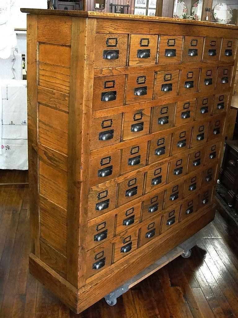 vintage library card cabinet antiques pinterest. Black Bedroom Furniture Sets. Home Design Ideas