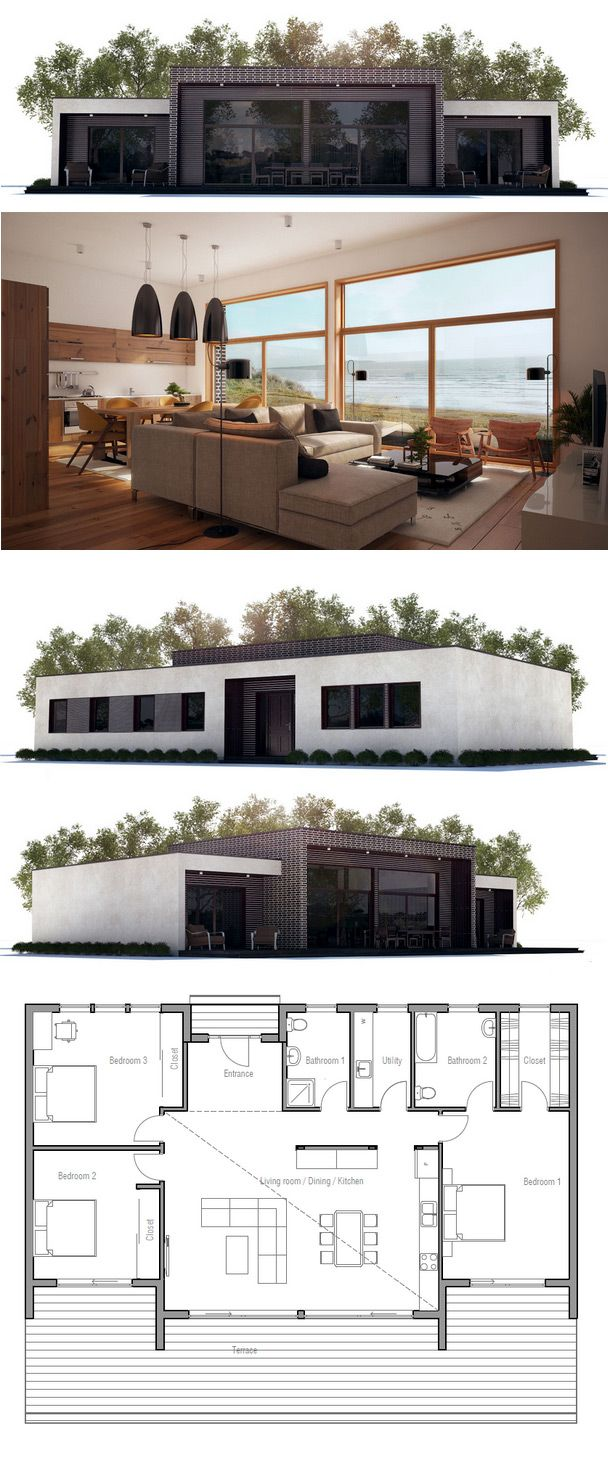Contemporary Home Maison 2g By Avenier Cornejo Architectes: Plan De Petite Maison