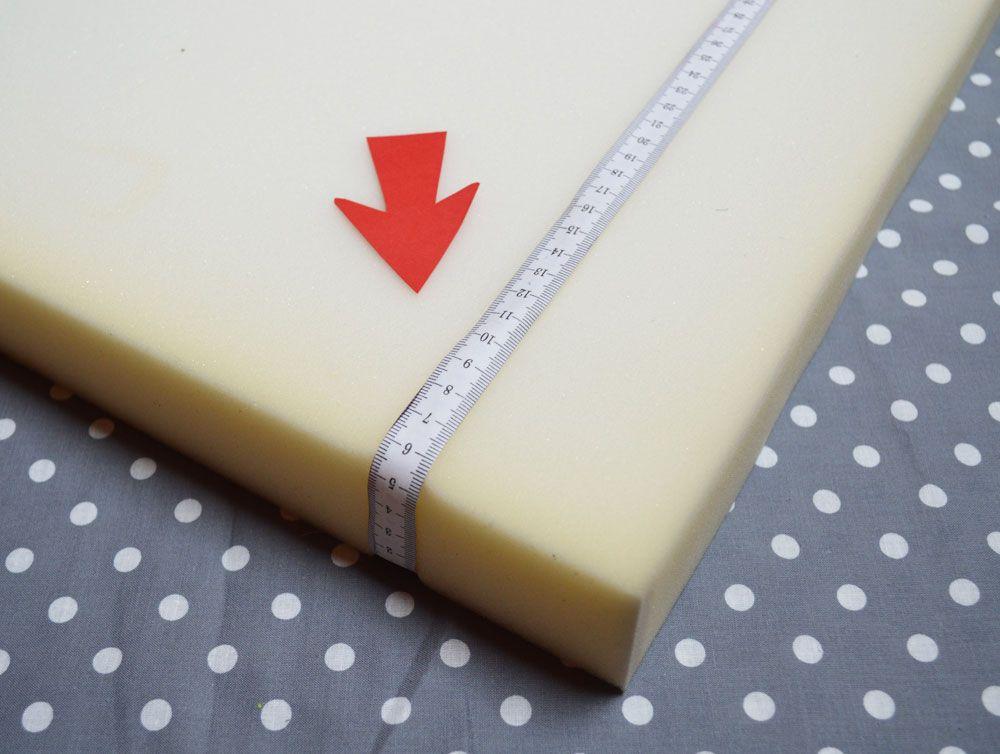 Nahanleitung Schaumstoffplatte Beziehen Nahen Nahanleitung