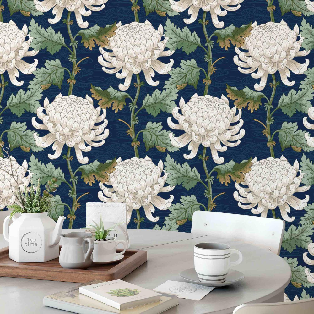 Chinoiserie Wallpaper Peel And Stick Wallpaper Removable Etsy Chinoiserie Wallpaper Japanese Decor Peel And Stick Wallpaper
