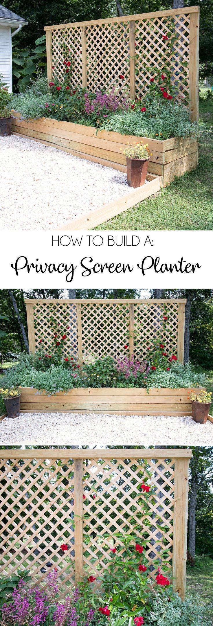 Photo of Privacy Screen Planter DIY – Gina Michele