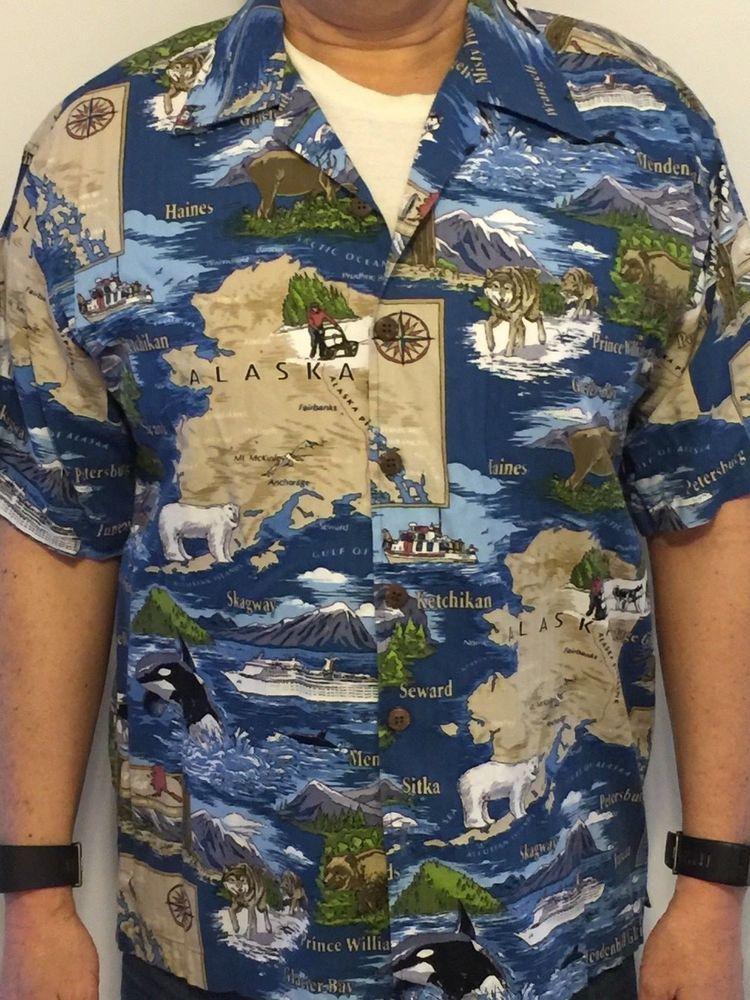 Hawaiian Shirt Dem Crazy Alaska Map Nature