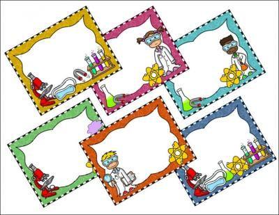 Science Kids Clipart: Borders & Frames Set #2 | Classroom ...