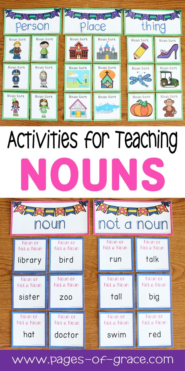 Are You Looking For Some Fun Activities For Teaching Nouns This Unit Is Full Of Engaging Worksheets Games Teaching Nouns Nouns First Grade Nouns Activities [ 1470 x 735 Pixel ]