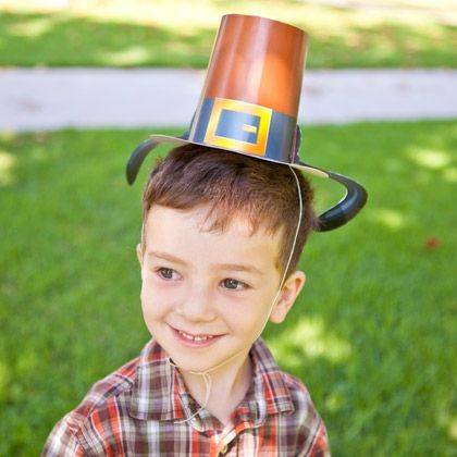 You'll be up to your ears in fun when you don Goofy's Thanksgiving Pilgrim hat.