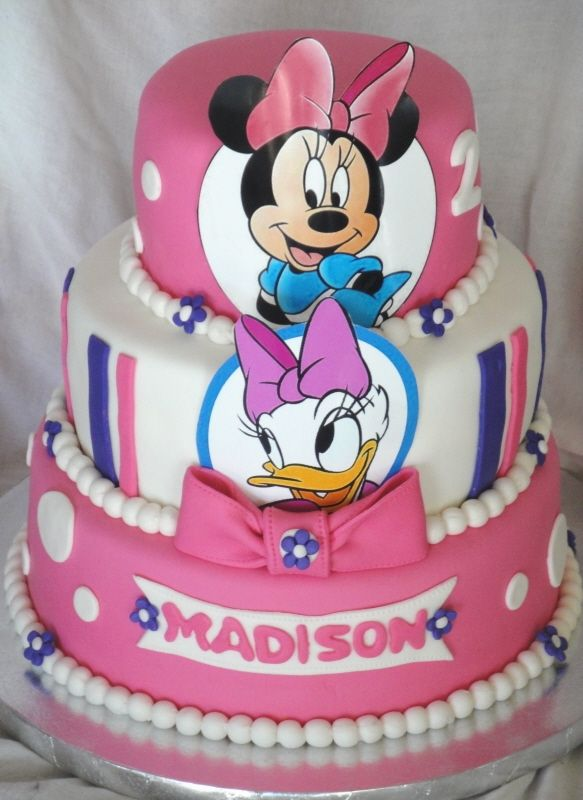 Miraculous Minnie Mouse Daisy Duck Birthday Celebration Cakes With Images Personalised Birthday Cards Vishlily Jamesorg