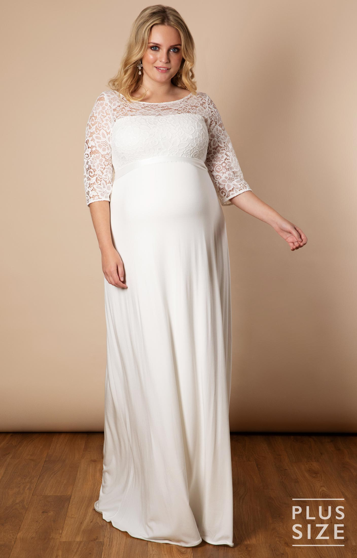 Lucia Gown Plus in 2019 | Plus Size Maternity Wedding Dresses ...
