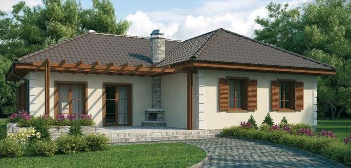 Plano de casa rustica de 1 piso con 3 dormitorios for Planos de casas de campo rusticas