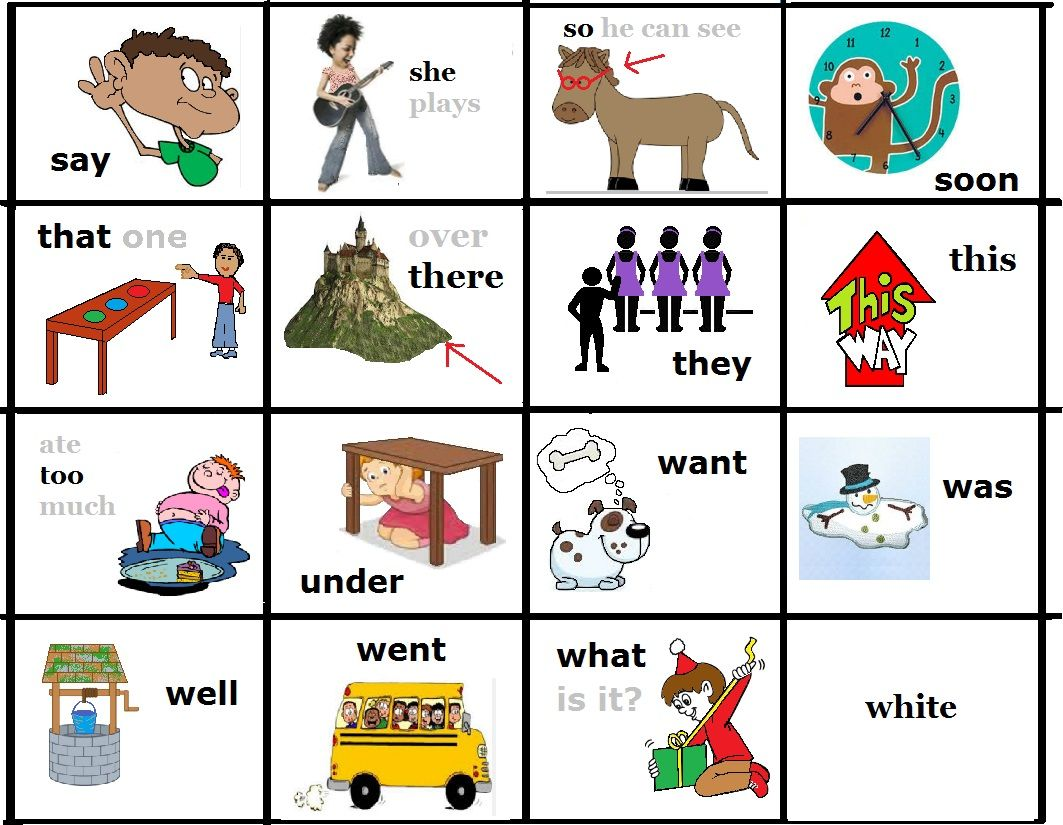 FREE to print - picture sight words - primer - kindergarten 3 -Dolch