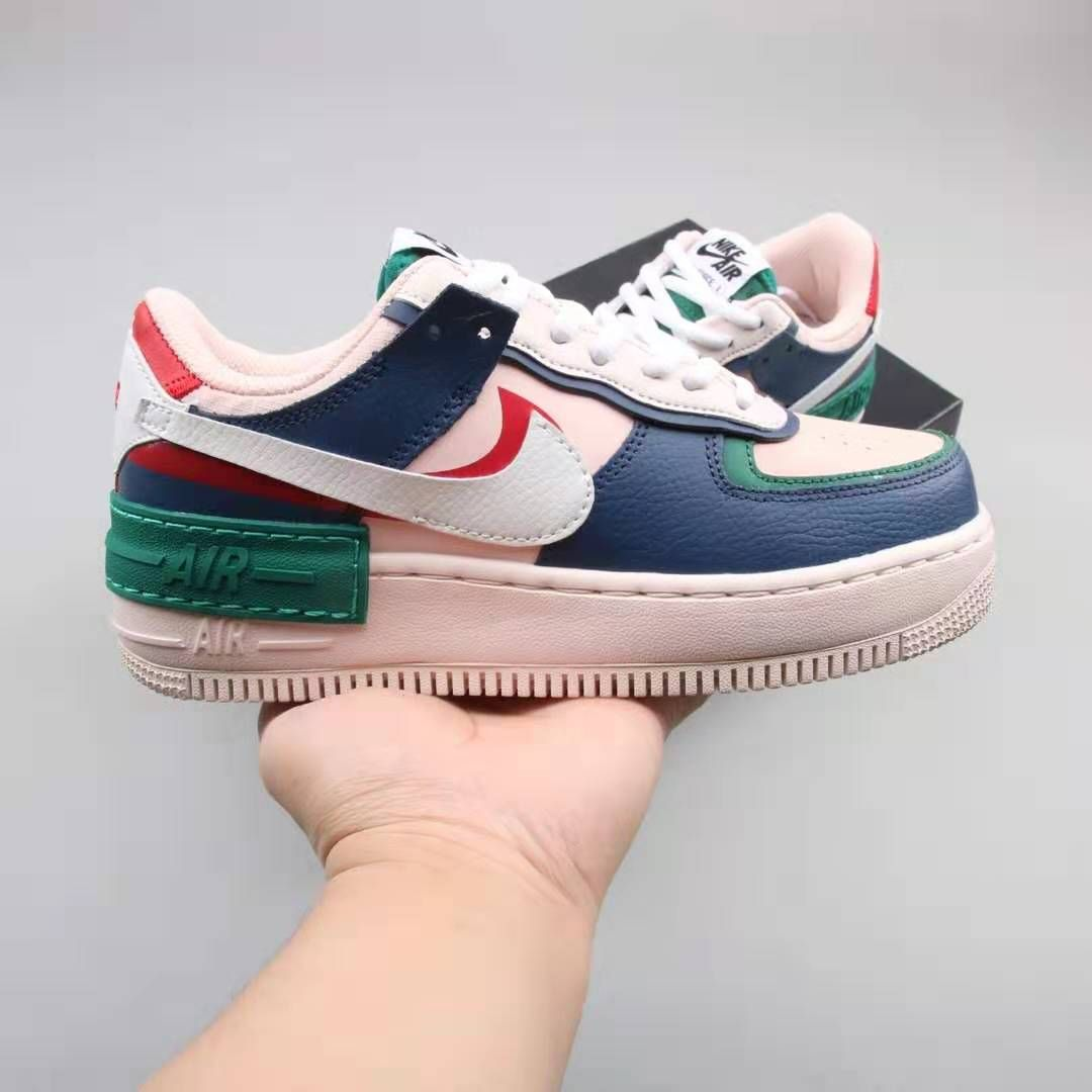 Nike Air Force 1 Double Layering Shadow Mystic Navy Ci0919 400 Nike Air Force Nike Air Nike Detailing on mystic navy/white features hits of pink, white and red throughout. nike air force 1 double layering shadow