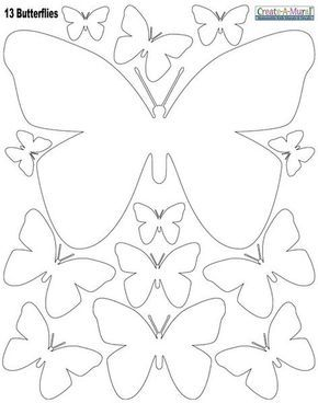 Butterly Wall Stickers White Flores Pinterest Applikationen