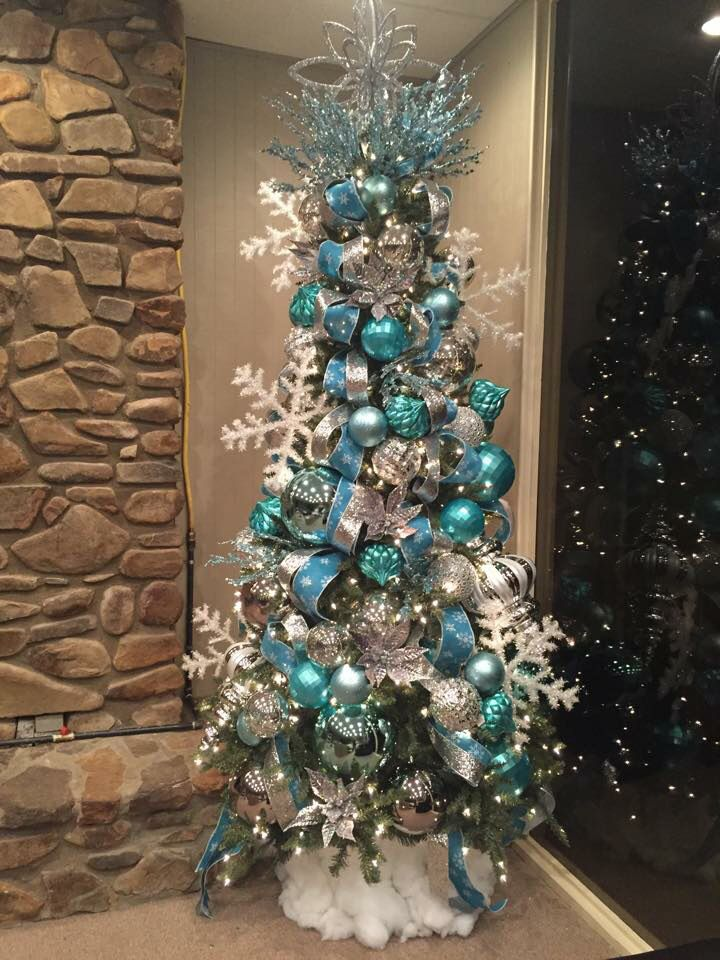 Christmas Blue Tree Decor Christmas Tree Themes Holiday Christmas Tree Silver Christmas Tree
