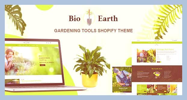 Bio Earth Landscaping And Gardening Services Shopify Theme In