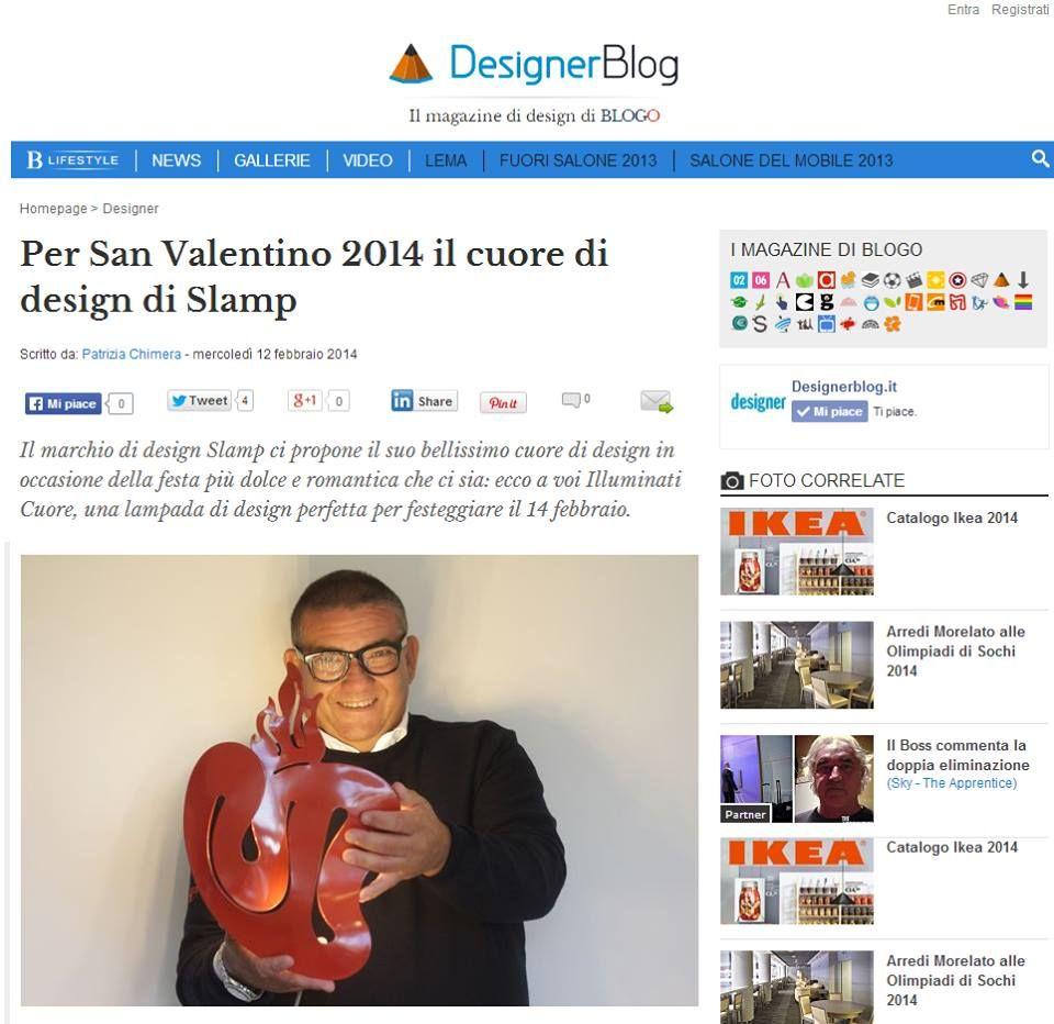 Il CUORE di SLAMP - simbolo di lealtà, devozione e passione -su Designerblog.it Leggi l'articolo http://goo.gl/Tv5JzH