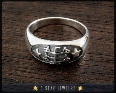 Brs4 Silver Bahai Ringstone Symbol Ring By 9starjewelry On Etsy