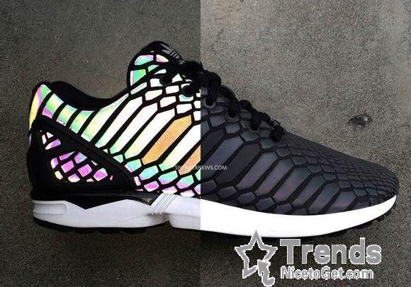 8564227990c18 Adidas ZX Flux Xeno Reflective Limited 3M Hologram B24441 Black - Women