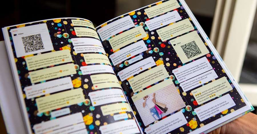 Print Your Whatsapp Chat As A Book Personalized Books Unique Presents Print
