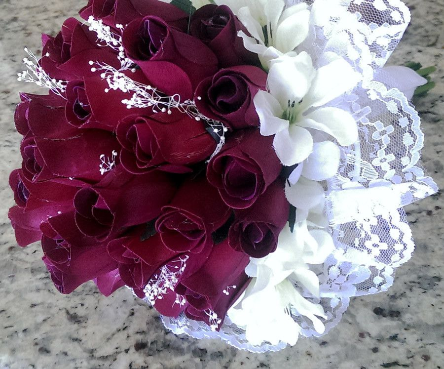 Bridal Bouquet – Eternal Wooden Roses | Wedding items made from wood ...