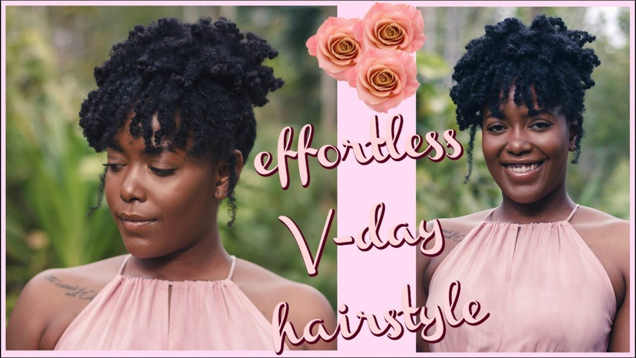 EASY UPDO ON 4C HAIR   Simple Natural Hairstyle for Black ...