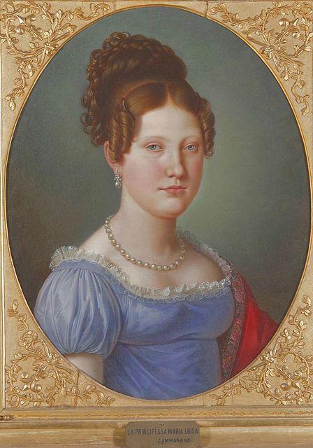 Maria Luisa Carlota De Borbon Princesa De Napoles Infanta De Espana Duquesa De Cadiz Fashion Portrait Female Art Francis I