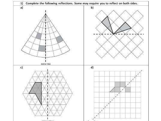Reflection Geometry Position Of Shape Ks2 Year 5 6 Worksheet Only Ha Ma Teaching Resources Reflection Geometry Ks2 Teaching Resources Reflection geometry worksheet