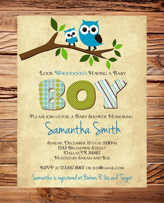 Owl baby shower invitation baby shower invite boy girl whimsical owl baby shower invitation baby shower invite boy girl whimsical blue filmwisefo Image collections