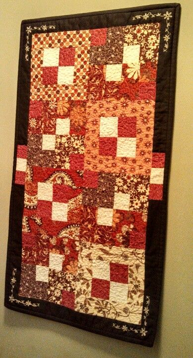 I made this fall/winter wall hanging out of leftover scraps from other fall projects. Pic 1 of 3.