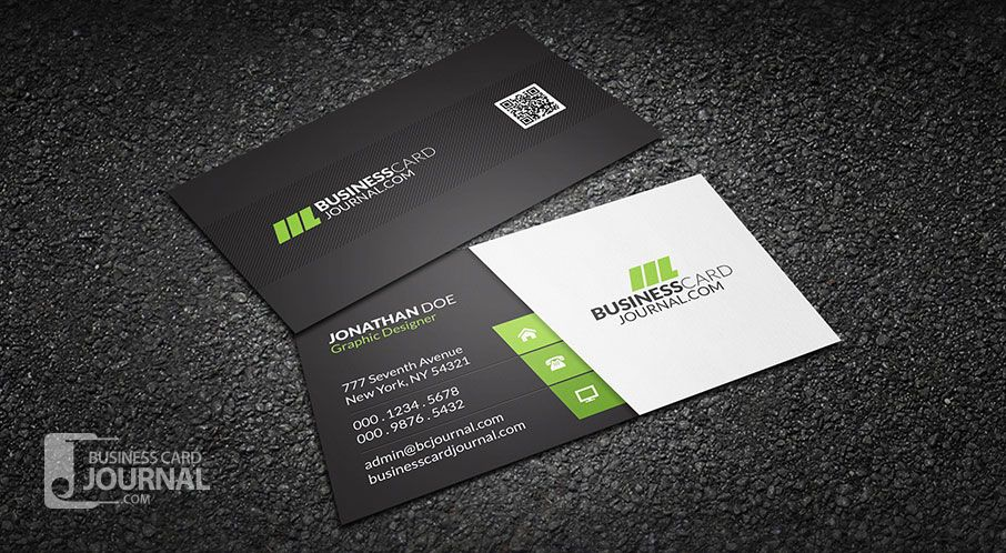 Clean Stylish Corporate Business Card Template Download Http Businesscardjournal Co Sample Business Cards Business Card Psd Free Business Card Templates