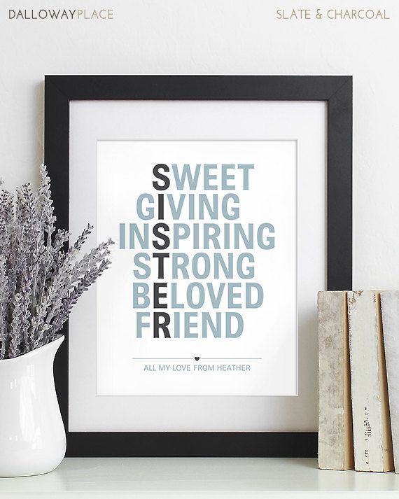 Secret Sister Gifts UNFRAMED PRINT On High Quality Heavyweight Paper With Archival Fade Resistant Inks LEAVE NOTES