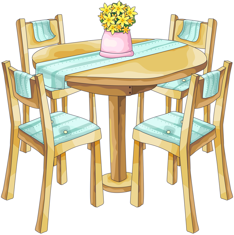 Table and chairs clip art misc clipart pinterest clip art doll houses and dolls - Modern dining room table png ...